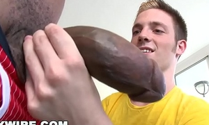 GAYWIRE - Twink Jesse Jordin Gets His Tight Ass Falling apart By Castro Supreme'_s Big Black Dick