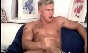 Blond tattooed uncut Danish web hunk