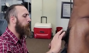 Bearded straight dude takes crown be proper of bitches ass fuck