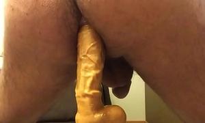 24 cm of mulato dildo inside my ass