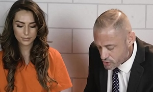 Busty shemale prisoner and say no to attorney fuck in jail