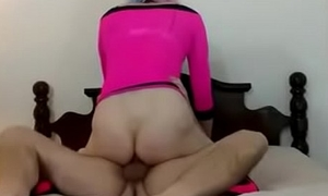 Daddy fucks and creampies a sissy'_s pussy