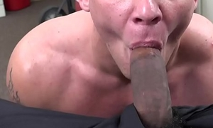 Straight dude blinded by cash ass fucked by giant dick