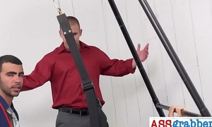 Gay apparatus in action for some hot anal