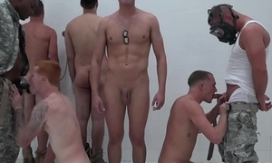 Military dudes are banging each other in the shower bailiwick