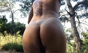 Fucking my pussy boy bore in the woods
