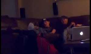 Straight thug bi curious caught chiefly hidden cam again in porn jerkoff session with mutual masturbation and fleshlight