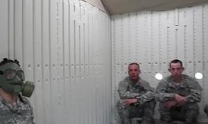 Military men having ass pounding 4 way orgy
