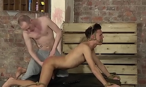 Tied up twink is smitten by his master before anal pounding