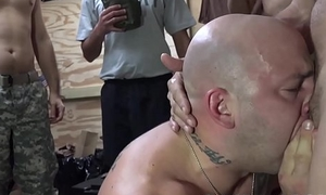 Military hunks rectally hazing new members in the barracks