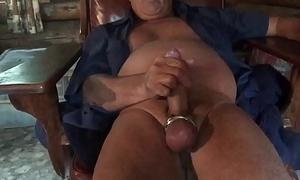 Masturbating nigh a different toy