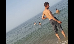 Egyptian swiming in the beach 2