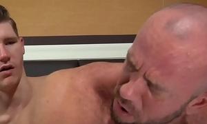 Daddy Matt Stevens Takes HUGE Dildo In Gape