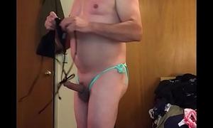 Cute dad/mature with big cock in bikini, adam longrod