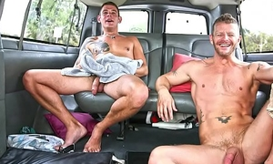 BAIT BUS - Jeremy Stevens and Jace Baldly Get Nigh and Dirty In A Van