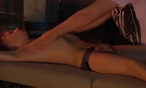 Sub twink gets soft massage and rough cock spasmodical