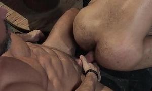 RagingStallion Bearded DILF Licks &amp_ Fucks Fleecy Ass