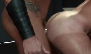 RagingStallion Chiseled Leather Daddy fucks his Pigs