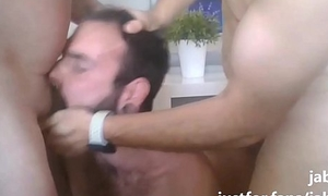 My mouth extremely fucked by two daddies
