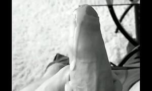 Lazy cumshot uncut bigcock