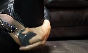 Huge dilldo anal masturbation with B-10 Warhead