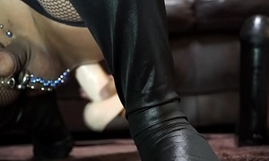 Deep anal masturbation with The Naturals 12 Inch Dong with Balls