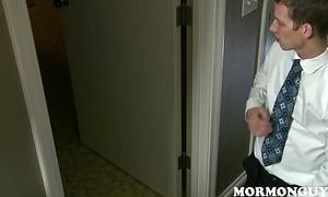 Randy Mormon Boy Jerks Deficient keep To His Jock Roommate Jerking Deficient keep In Shower