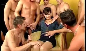 gangbang with the addition of piss orgy be useful to that woman