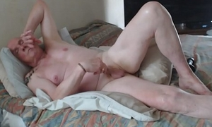 Fucking myself with a dildo while I jerk off