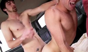 BAIT BUS - Steven Ponce Tricks Straight Bait Jeremy Stone Into Having Gay Sex On A Bus