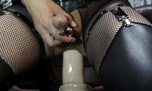 Huge dildo deep anal addiction in Giant Panhandler O'_War 2