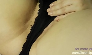 Royal Lady Masturbates under Lingerie with Cock Jizz flow Allover