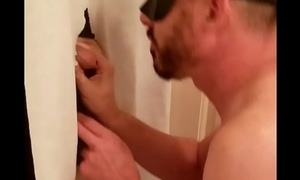 Tall athletic straight guy with nice uncut dick stopped by my gloryhole