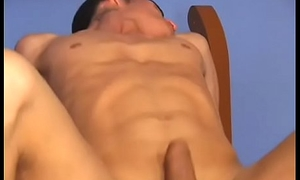 Big tit shemale and twink suck each other off and fuck