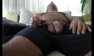 Hot Daddy Strokes His Cock and Cums