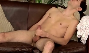 Young British man jerking off off hard after the be relevant