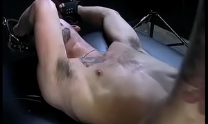 Tickling master similar his tricks to restrained submissive