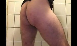 Sissy twerking with an increment of striping in chastity