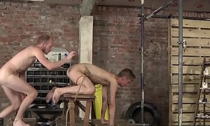 S&m twink drilled rough in his tigh asshole and throat