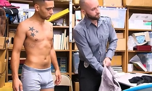 Young Latino Straight Guy Steals Money From Tip Jar Screwed By Gay Security Guard