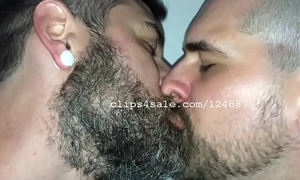 Adam and Richard Kissing