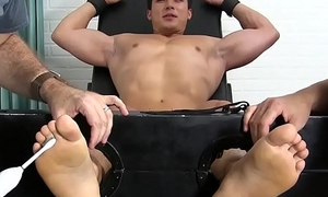 Asian jock Axel Kane restrained with the addition of tickled relentlessly