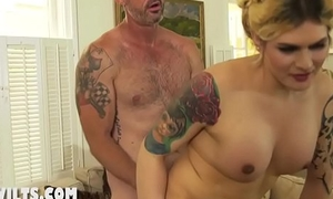 Gonzo anal with an increment of a huge fuck with a mummy
